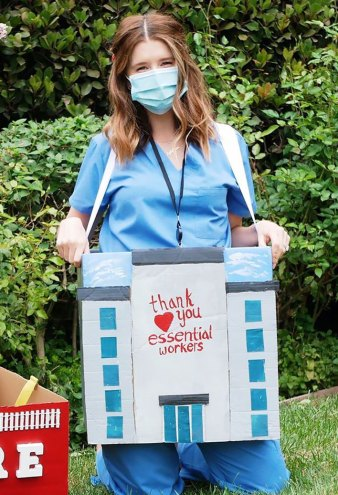 Katherine Schwarzenegger's Halloween Costume Honors Essential Workers
