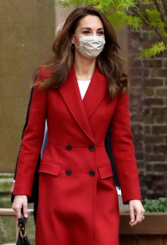 Duchess Kate's Red Wool Coat Is Fall Style Goals