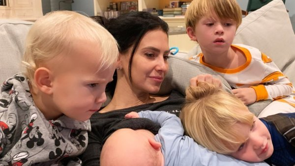 Hilaria Baldwin Poses for Sweet Shot With 4 Sons