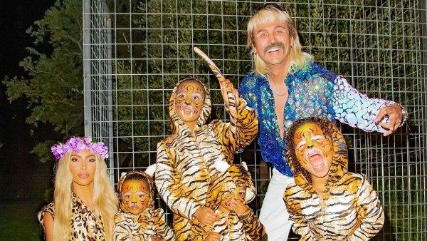 Kim Kardashian Rocks Tiger King Halloween Looks With Her Kids and Jonathan Cheban