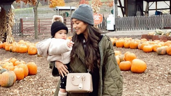 Shay Mitchell and Daughter Atlas at Pumpkin Patch