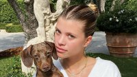 Sofia Richie Stuns In PrettyLittleThing Posing With Her Dog
