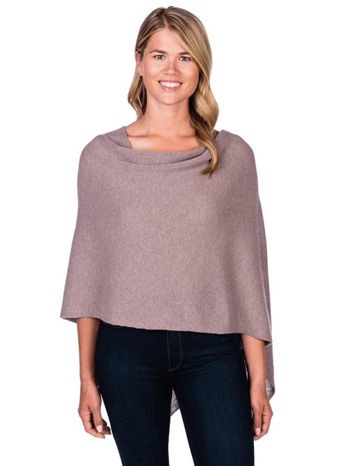 CLAUDIA NICHOLE by Alashan 100% Cashmere Dress Topper Poncho