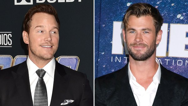 Chris Pratt Hilariously Begs Chris Hemsworth to Stop Working Out