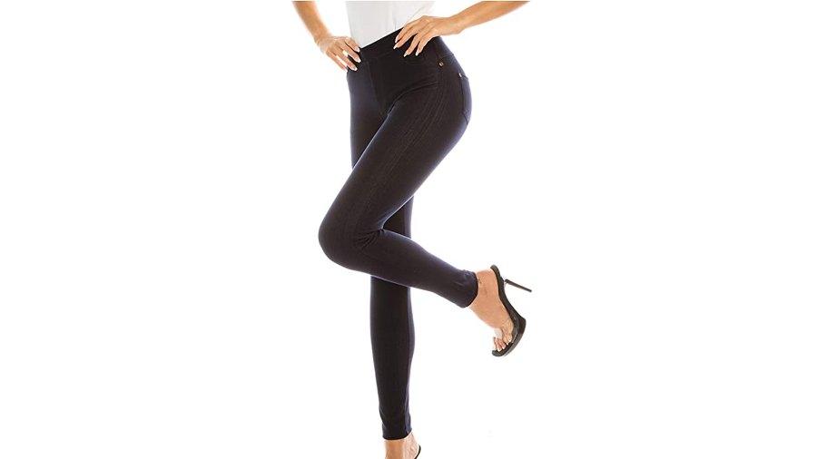 ShyCloset Casual Comfy Slim Fit Denim Pocket Jeggings Pants