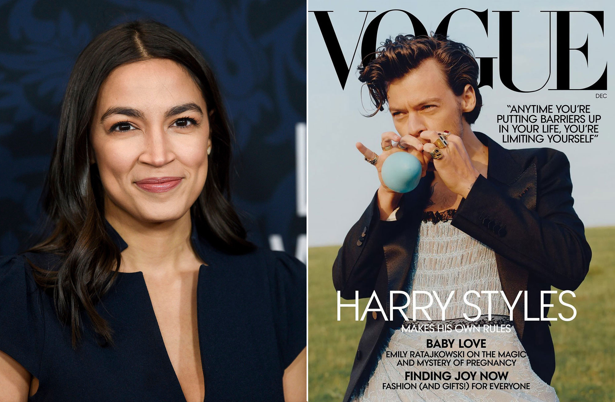 Alexandra Ocasio-Cortez: Harry Styles' 'Vogue' Cover Has 'James Dean Vibes'