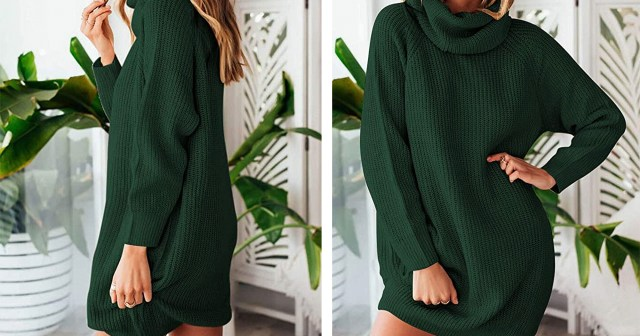 This Sweater Dress From Amazon Is the Coziest Winter Essential.jpg