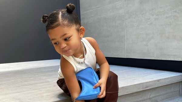 Kylie Jenner's Daughter Stormi, 2, Pairs a Prada Bag With Leather Pants