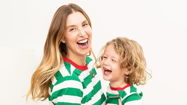 Whitney Port and Son Sonny in Matching Christmas PJs