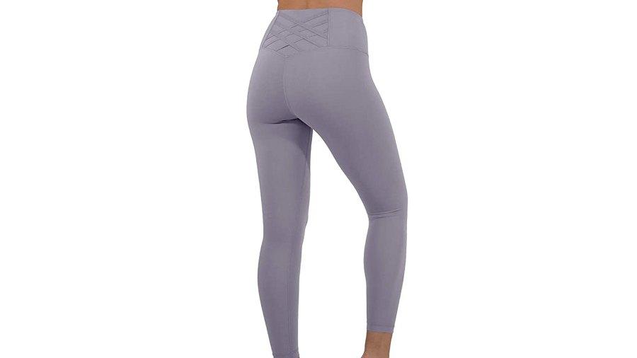 Yogalicious High Waist Squat Proof Criss Cross V-Back Ankle Length Leggings