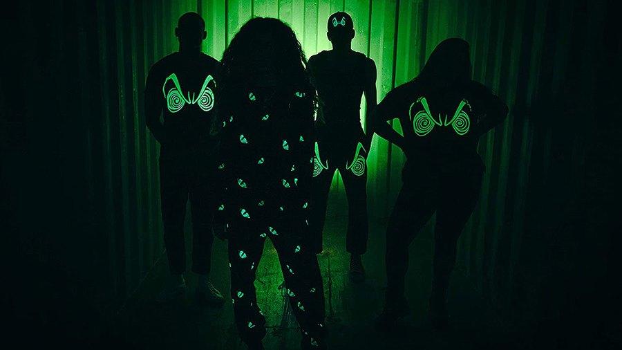 disney-heidi-klum-villains-glow-in-the-dark-clothes