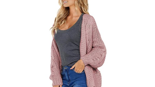 Astylish Women's Open Front Long Sleeve Chunky Knit Cardigan Sweater