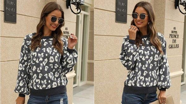Hirate Women's Knit Puff Long Sleeve Sweater