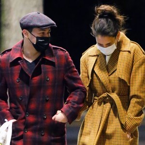 Katie Holmes and Emilio Vitolo Jr. Stroll in Chic, Colorful Coats