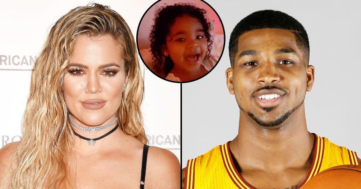Watch Khloe Kardashian's Daughter True Cheer on Tristan ...