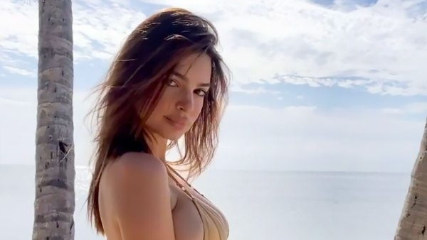 Pregnant Emily Ratajkowski Shows Off Her Growing Belly in a Nude Bikini