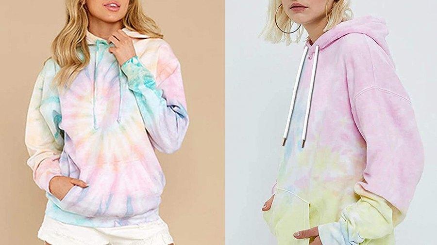 EFAN Women's Hoodies Tops Tie Dye Printed Sweatshirt