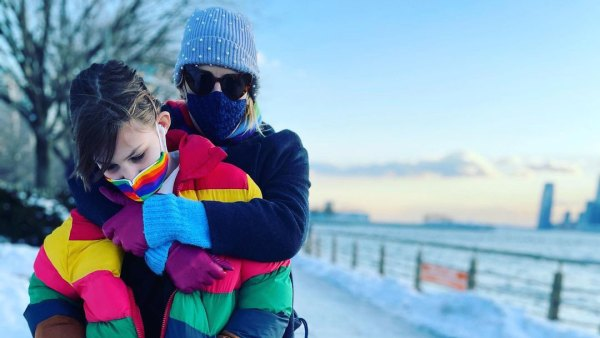 Busy Philipps' Child and More Families Playing in Snow