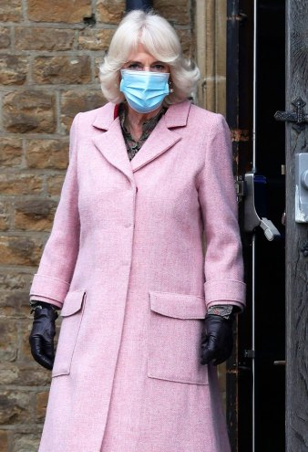 Duchess Camilla Looks Pretty in Pink at Vaccination Center: Pics