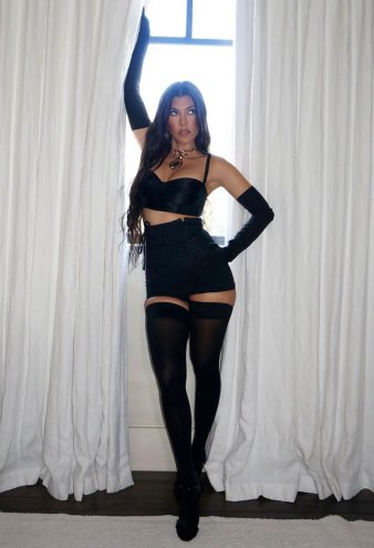 Kourtney Kardashian Strips Down for Dolce & Gabbana Virtual Fashion Show