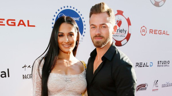 Nikki Bella and Artem Chigvintsev attend the 9th Annual Variety Charity Poker and Casino Night in 2019 Nikki Bella Wants Another Baby With Artem Chigvintsev But Also Wants a WWE Comeback