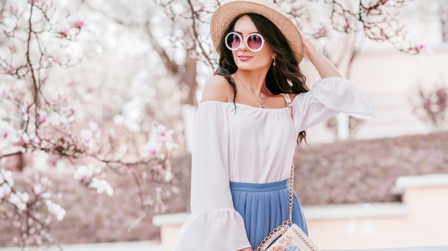 Off-The-Shoulder-Blouse-Stock-Photo