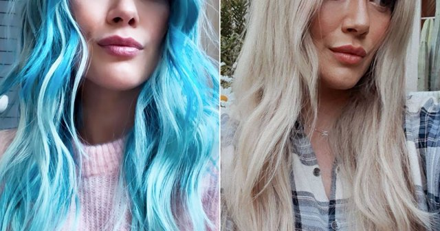 Hilary Duff Goes Back to Blonde, Gets Crazy Long Extensions: 'I'm Rapunzeled'.jpg