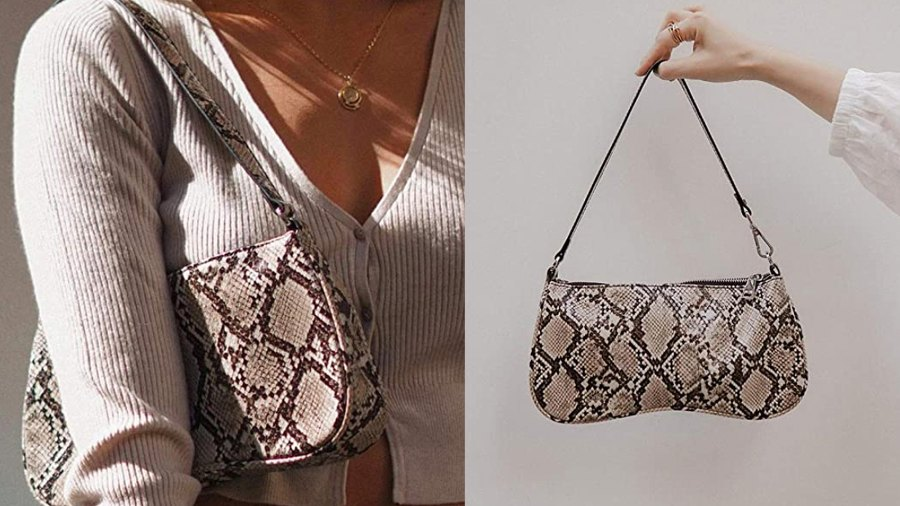 JW PEI 90s Shoulder Bag Vegan Leather Crocodile Purse Classic Clutch Handbag