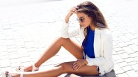 Woman-Wearing-Blazer-Stock-Photo