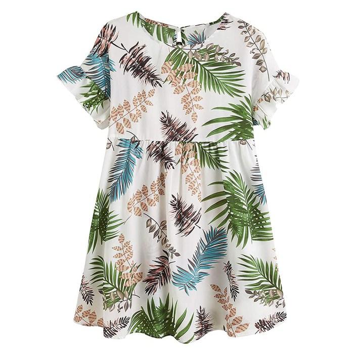 robe-à-volants-botanique-tropicale-romwe