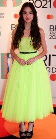 2021 BRIT Awards Red Carpet Arrivals - Olivia Rodrigo