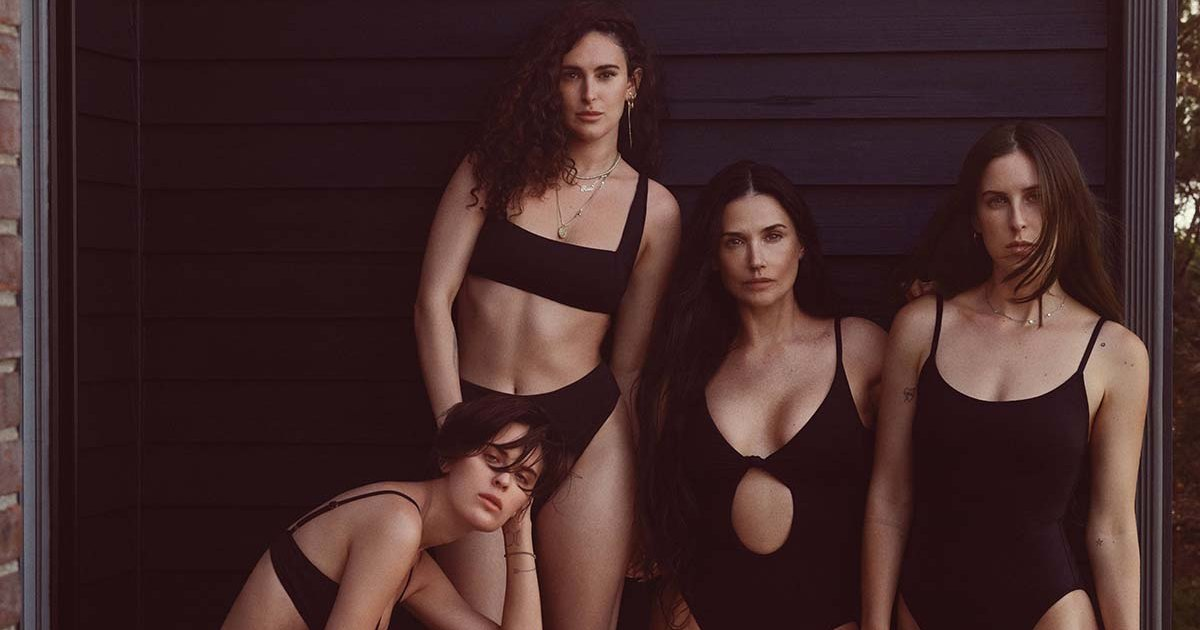 Demi Moore and daughters wear matching Andie's swimsuits: photos