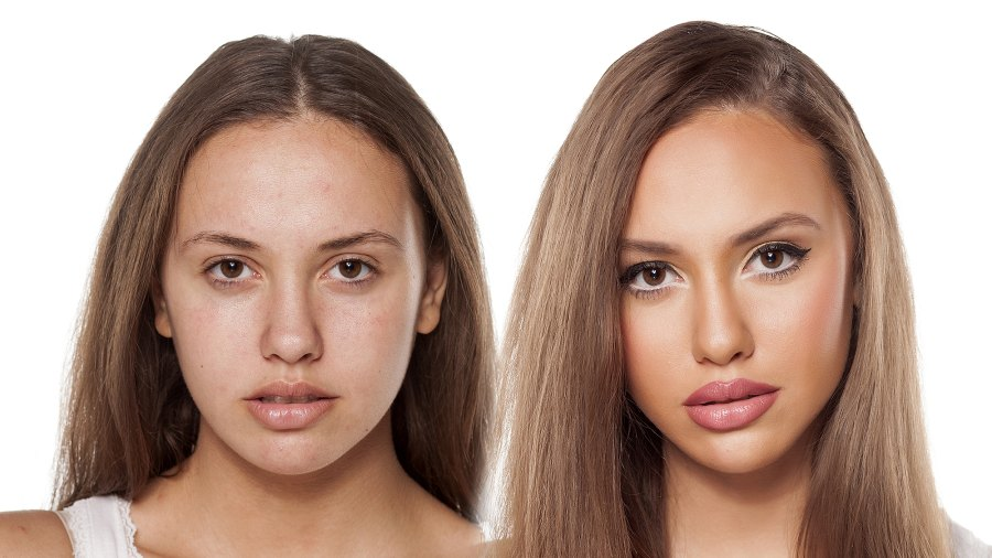 before-after-face-oil-glow
