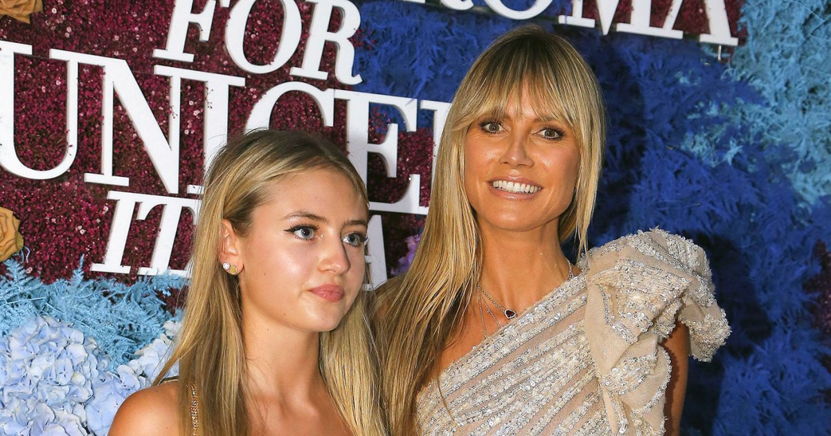 Heidi Klum and Daughter Leni Totally Twinned on the LuisaViaRoma x Unicef Gala Red Carpet in Italy