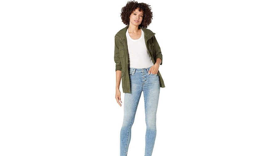 True Religion Halle High-Rise Skinny Exposed Button in 5 am Light