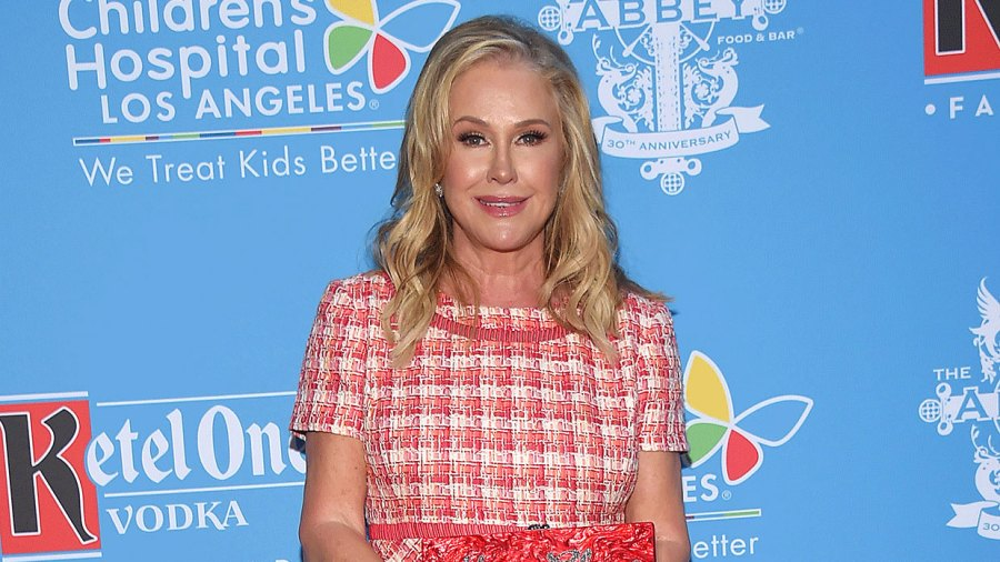 Kathy Hilton Left Her Dinner Wearing a Literal Tablecloth — and Fans Have Questions