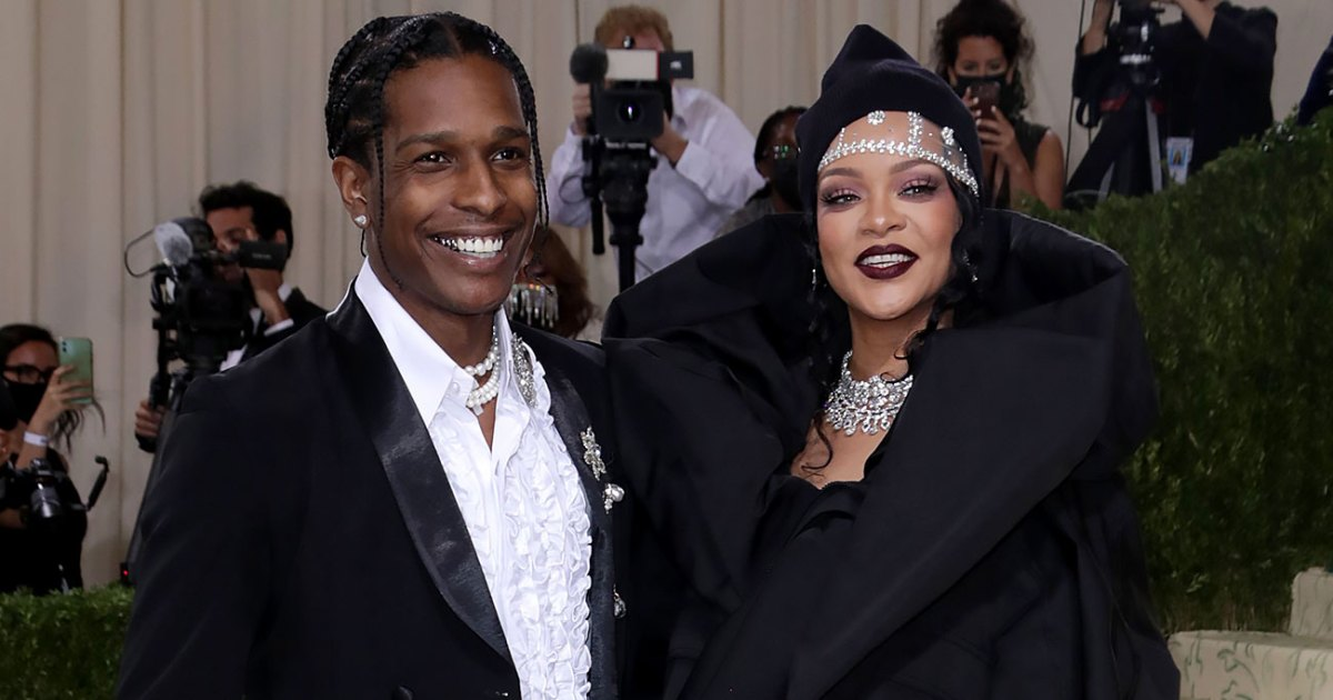 Rihanna and A$AP Rocky Make an Entrance Arriving Late Together at 2021 Met Gala - Us Weekly