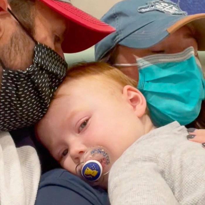 Jamie Oates takes son Hendricks to emergency room amid RSV fears: 'Rough Night'