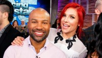 Sharna Burgess and Derek Fisher