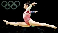 Alexandra Raisman of the United States competes on the balance beam during the Artistic Gymnastics Women's Team Final on Day 4 of the Rio 2016 Olympic Games at the Rio Olympic Arena on August 9, 2016 in Rio de Janeiro, Brazil.