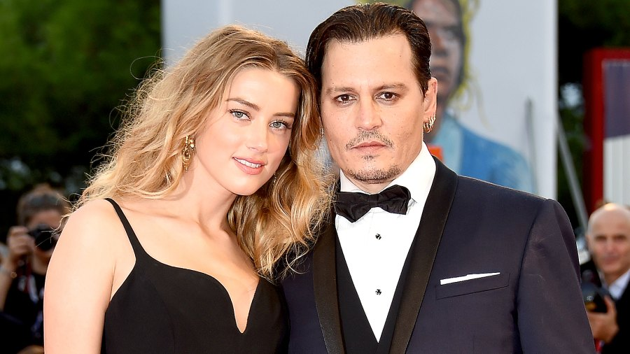 Johnny Depp and Amber Heard attend a premiere for 'Black Mass' during the 72nd Venice Film Festival at on September 4, 2015.