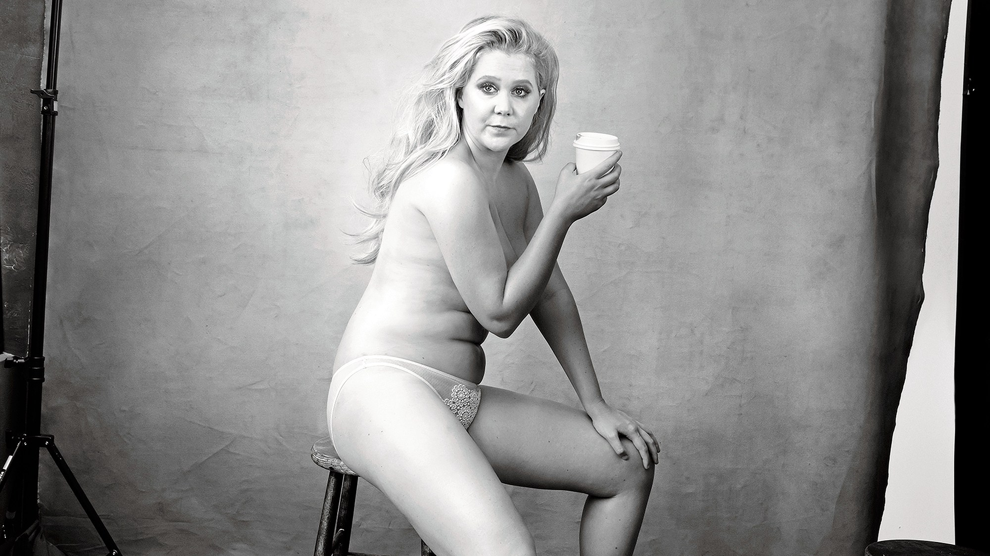Amy Schumer Poses Topless for Pirelli 2016 Calendar