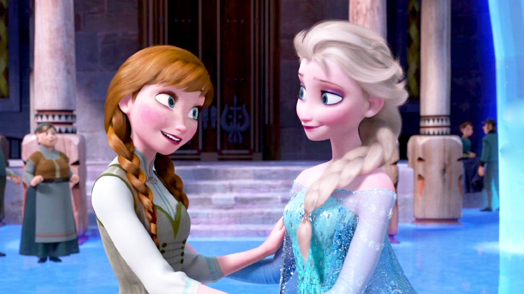 Anna and Elsa Frozen