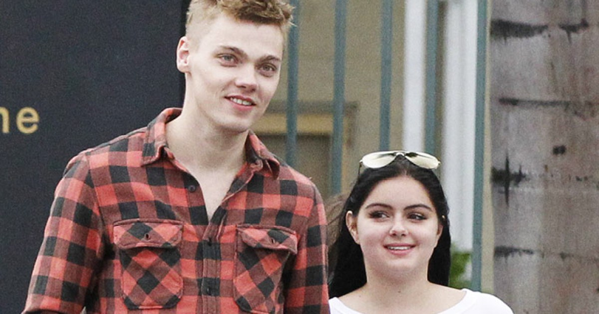 Ariel Winter Kisses Levi Meaden Holds His Hand After
