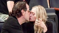 Ashley Olsen and Richard Sachs attend the New York Knicks vs. Brooklyn Nets game at Madison Square Garden on Nov. 9, 2016, in New York City.
