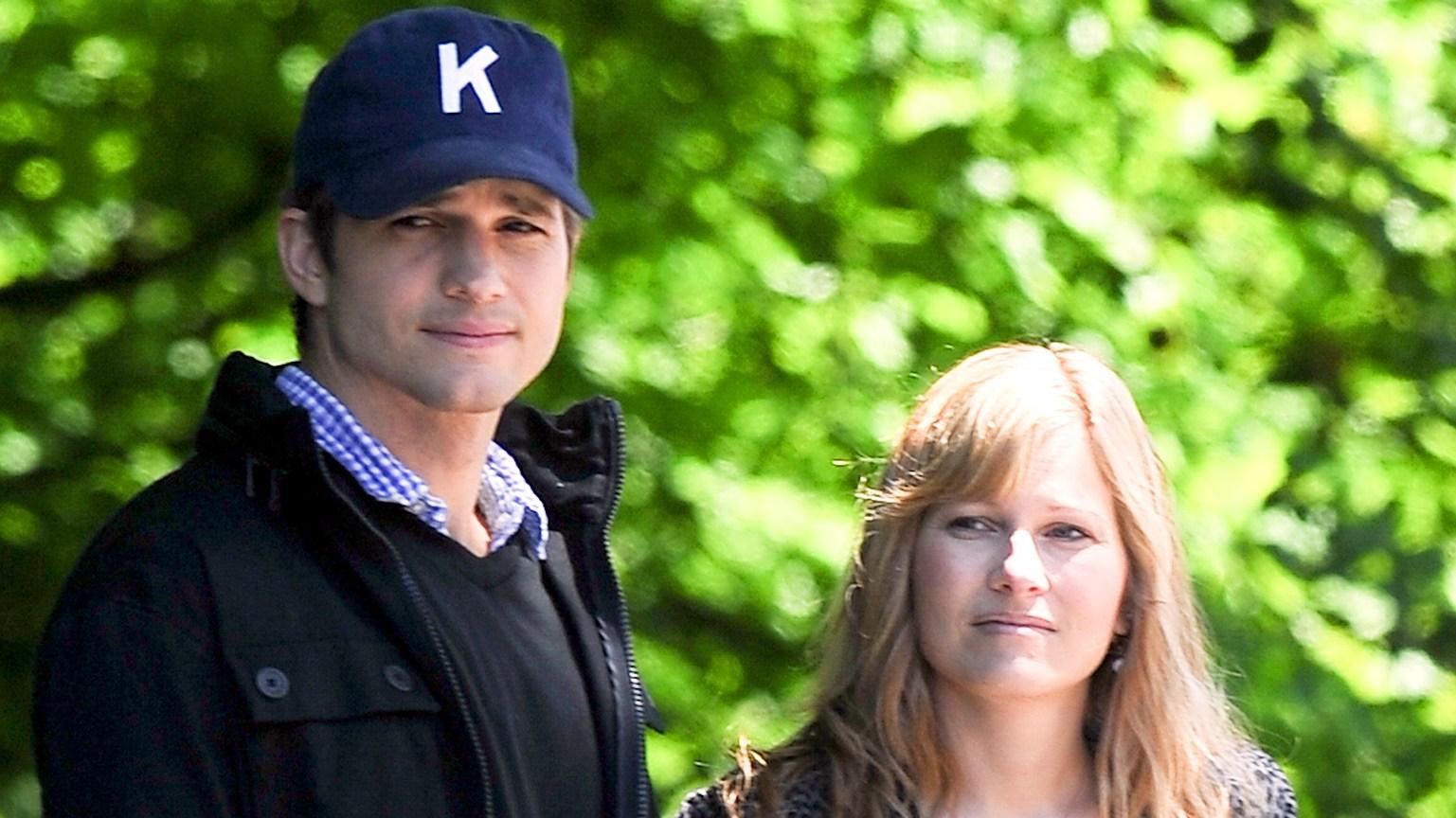 Ashton Kutcher and his sister Tausha Kutcher in June 2013.
