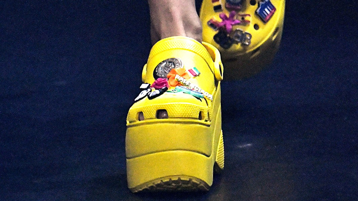 b332dc7abd89 Balenciaga s Platform Crocs at Paris Fashion Week  Love It or Hate It