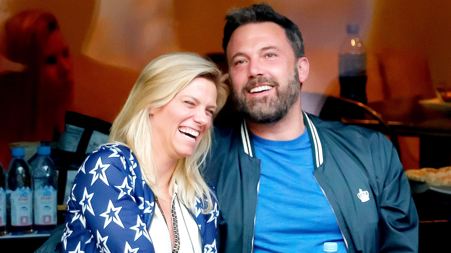 Ben Affleck and Lindsay Shookus attend the 2017 US Open Tennis Championships at Arthur Ashe Stadium on September 10, 2017 in New York City.