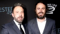 Ben Affleck and Casey Affleck attend the 'Manchester by the Sea' premiere at AMPAS Samuel Goldwyn Theater in Beverly Hills on November 14, 2016.