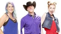 Big Brother contestants Megan, Jason, and Raven